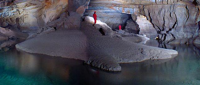 Krizna jama (subterranean river isle) Photo: Boštjan Burger