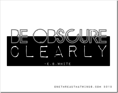 be osbcure